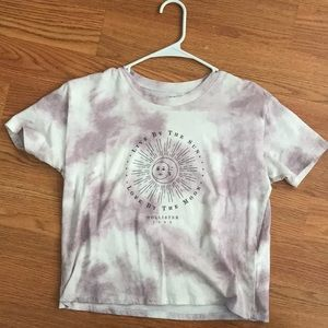 Lavender tie dye t shirt